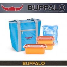 버팔로 아파치 다용도보온보냉백 10L(블루)(원플러스용기세트)-(OPP포장)