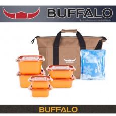 버팔로 아파치 다용도보온보냉백 13L(브라운)(원플러스용기세트)-(OPP포장)